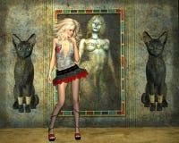 Galeriekatzen Lizenzfreies Stockbild