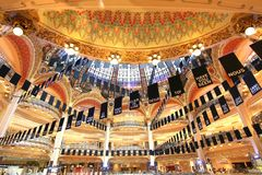 Galeries拉斐特是一家普遍的法国联锁百货商店 免版税库存图片