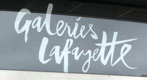 Galeries拉斐特标志 免版税库存图片