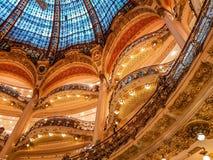 GALERIES拉斐特歌剧,巴黎,法国 库存图片
