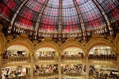 Galeries Lafayette abobadam Imagens de Stock Royalty Free