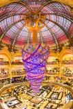 Galeries Lafayette almacenan, París, Francia Fotografía de archivo