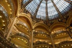 Galeries Lafayette-binnenland in Parijs Royalty-vrije Stock Foto