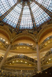 Galeries Lafayette-binnenland in Parijs Royalty-vrije Stock Fotografie