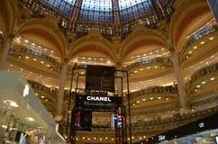 Galeries Lafayette-binnenland in Parijs Royalty-vrije Stock Foto's