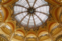 Galeries Lafayette dome, interior in Paris Stock Photography