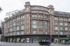 Galeries Lafayette em Strasbourg, França Foto de Stock
