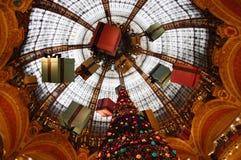 Galeries Lafayette Haussmann Fotografia Stock
