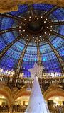 Galeries Lafayette. Inside the Galeries Lafayette stock photo