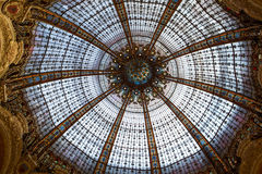 Galeries Lafayette interior in Paris. Royalty Free Stock Images