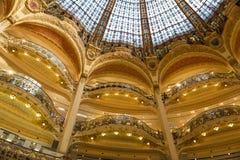 Galeries Lafayette interior in Paris. Stock Images