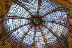 Galeries Lafayette interior in Paris. Stock Photo