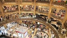 Galeries Lafayette stock footage