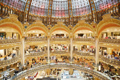 Galeries Lafayette interior in Paris Stock Images
