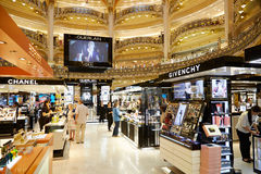 Galeries Lafayette interior in Paris Stock Photos