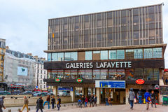 Galeries Lafayette in Montparnasse, Paris Stock Photography