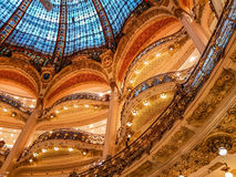 GALERIES LAFAYETTE-OPERA, PARIJS, FRANKRIJK Stock Afbeeldingen