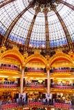 Galeries Lafayette - París Imagen de archivo libre de regalías