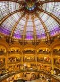 Galeries Lafayette, París Foto de archivo