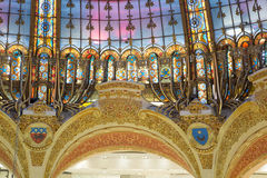 Galeries Lafayette Parijs stock foto