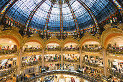 Galeries Lafayette in Parijs Stock Fotografie