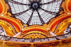 galeries Lafayette Paris fotografia stock