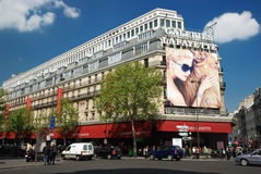 Galeries Lafayette in paris Stock Photo