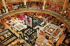Galeries Lafayette in Paris, France Stock Photos