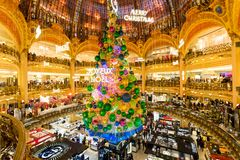 Galeries Lafayette, Paris, France, 2018 royalty free stock image
