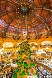Galeries Lafayette, Paris, France, 2018 royalty free stock image