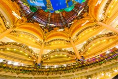 Galeries Lafayette, Paris, France, 2018 royalty free stock images