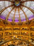 Galeries Lafayette, Paris. Interior of the famous department store Galeries Lafayette in Paris Stock Photo