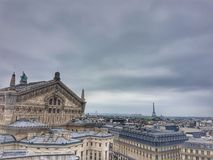 Galeries Lafayette Terace Paris view stock photos