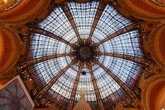 Galeries Lafeyette圆顶 库存照片