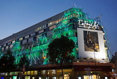Galeries Lafeyette at Night Royalty Free Stock Images