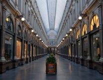 Galeries Royales Άγιος Hubert Περίκομψος 19ος αιώνας που ψωνίζει arcades στο κέντρο των Βρυξελλών, Βέλγιο στοκ εικόνες
