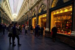 Galeries Royales Hubert fotografia royalty free