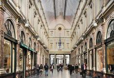 Galeries Royales Saint-Hubert in Brussels. Belgium Royalty Free Stock Photo