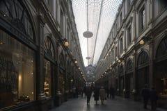 Galeries Royales Saint-Hubert a glazed shopping arcade stock image