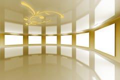 galerii wirtualny złocisty nowożytny atłasowy Zdjęcia Stock