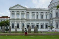 Galerij met Tuinman in Singapore stock fotografie