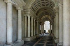 Galerij van het Palazzo de Spada Gedwongen perspectief door Francesco Borromini Stock Foto's
