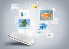 Galerij van het telefoon de mobiele beeld vector illustratie