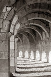 Oude galerij in Aspendos, Turkije Royalty-vrije Stock Fotografie
