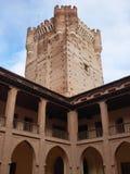 Galerijen van de toren en het Kasteel van La Mota of Castillo DE La Mota Stock Afbeeldingen