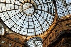 Galerijkampioen Emmanuel II in Milaan royalty-vrije stock fotografie