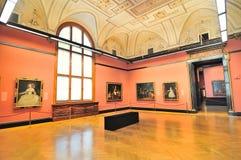 Galerijruimte van Kunsthistorisches-Museum (Museum van Art History stock afbeeldingen