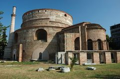 Galerius Rotunda of St.George in Thessaloniki. Galerius' Rotunda of St. George (Galerius' Tomb) in Thessaloniki,Greece stock image