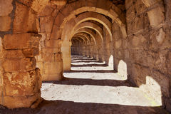 Galery at Aspendos in Antalya, Turkey Royalty Free Stock Photo