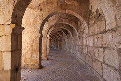 Galery at Aspendos in Antalya, Turkey Royalty Free Stock Photos